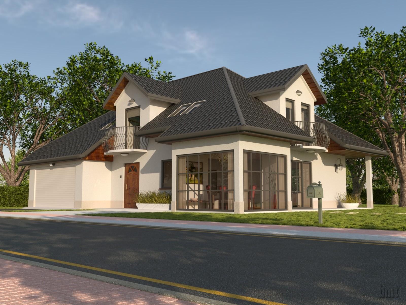 Wizualizacje architektoniczne dom