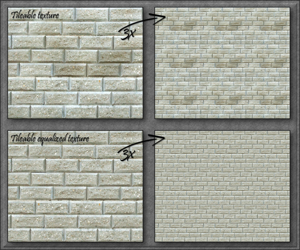 Tileable equalized texture
